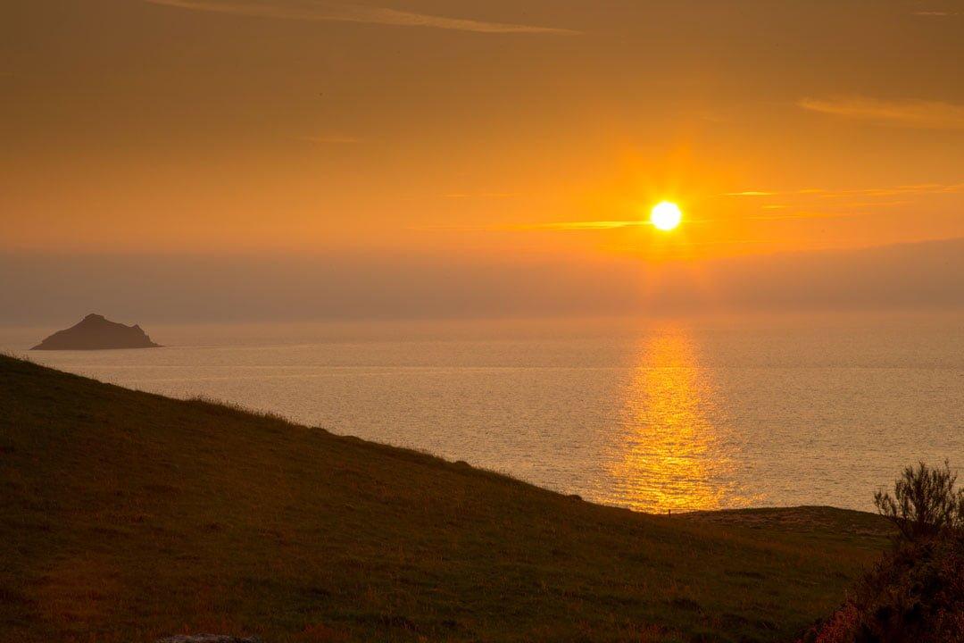 Sonnenuntergang Port Quin Cornwall