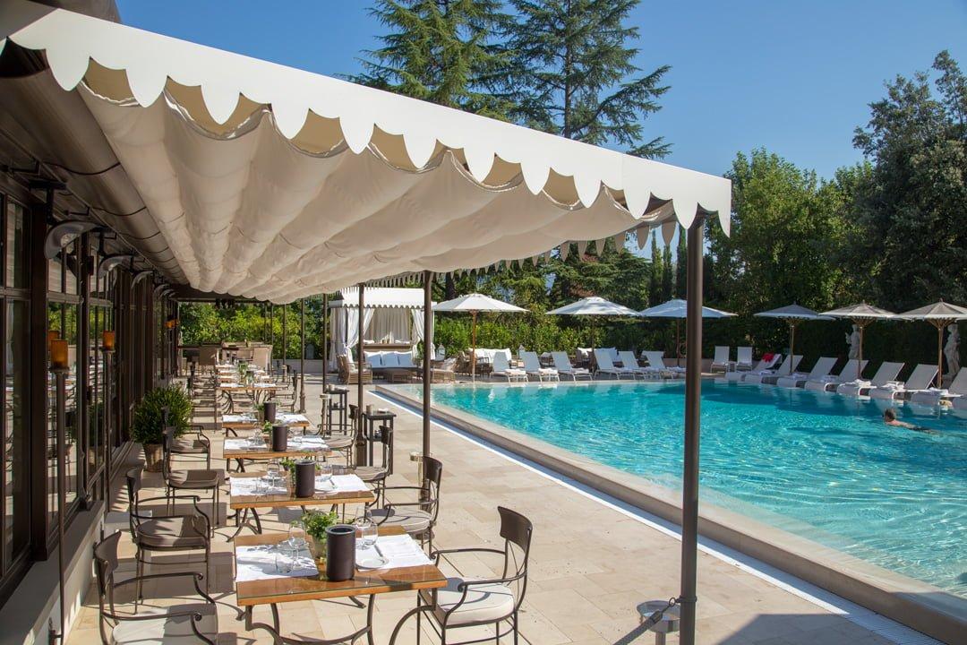 Villa Cora Pool Restaurant Florenz