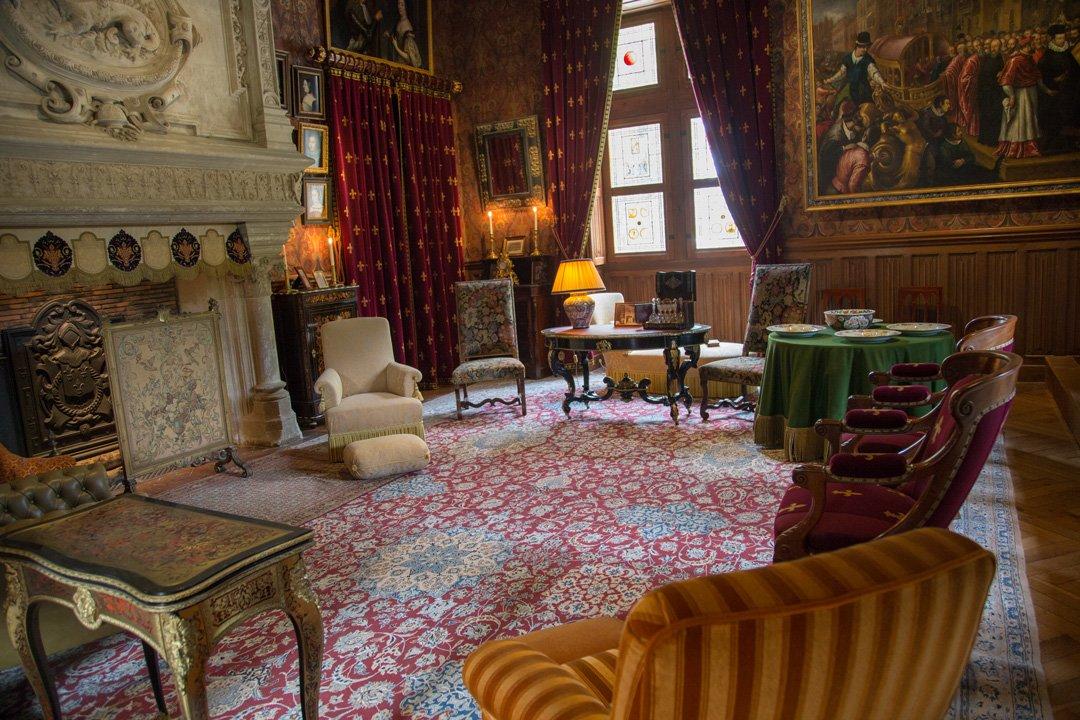 Chateau Azay le Rideau Wohnzimmer