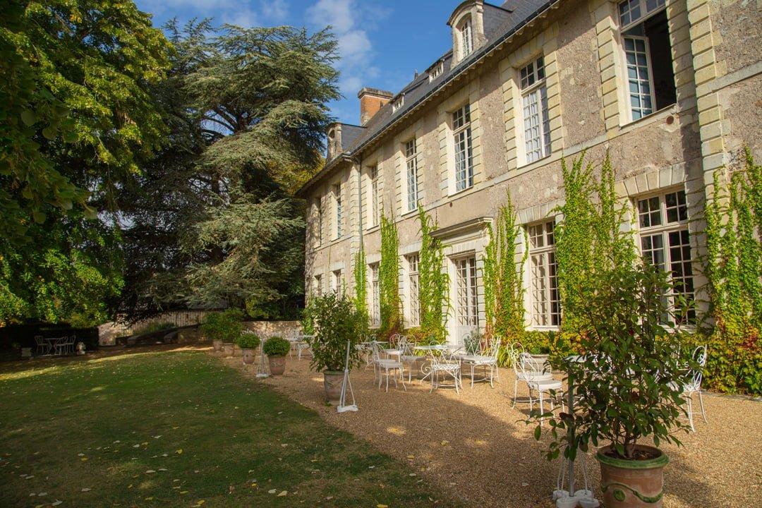 Chateau de Noirieux Sitzplatz Briollay