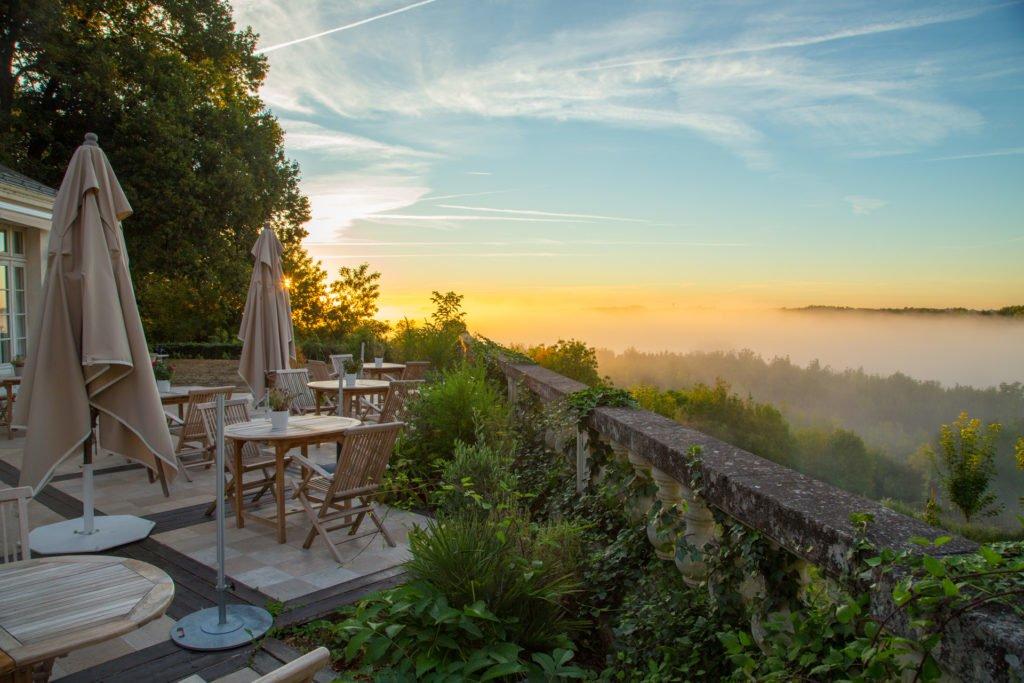 Chateau de Noirieux Morgenstimmung Briollay