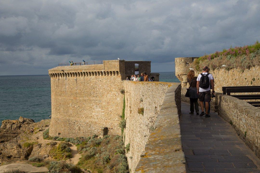 Saint Malo Festungsmauer Bretagne