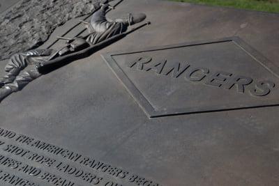 Gedenktafel Rangers Utah Beach Normandie