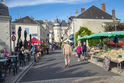 Markt Langeais Frankreich
