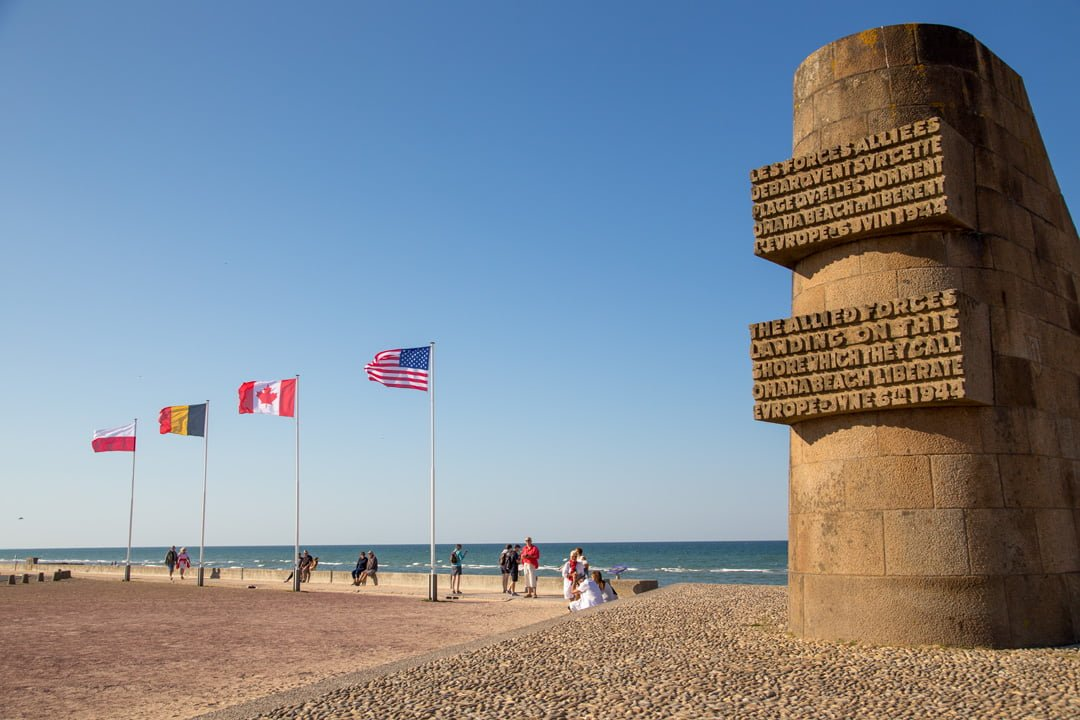 Monument Omaha Beach Normandie