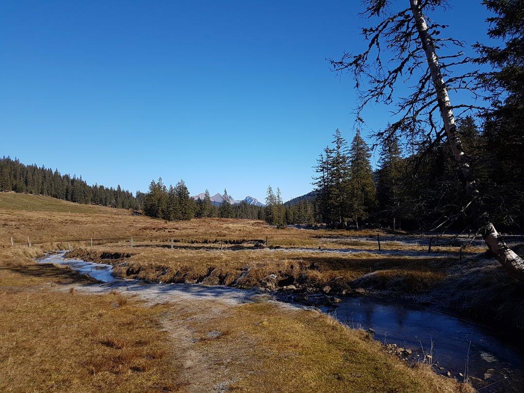 Moorlandschaft Glaubenberg Schliere Bach Obwalden