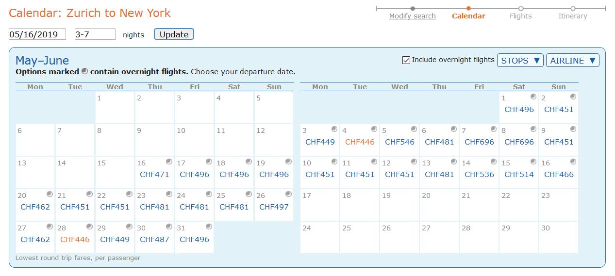 Screenshot-Matrix-Preisübersicht