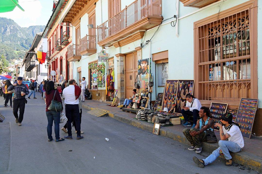 Barriao La Candelaria Bogota Kolumbien