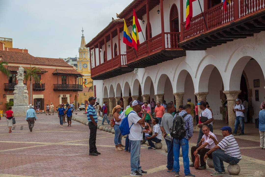 Cartagena  Arkaden Kolumbien