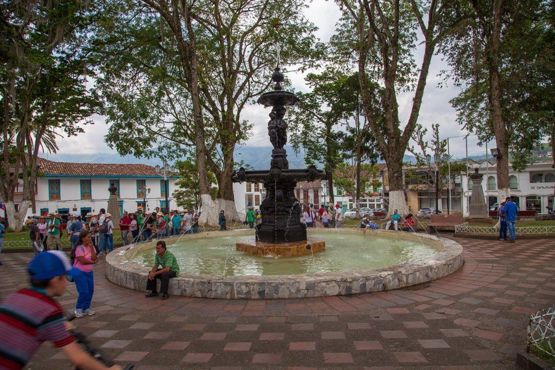 Dorfbrunnen Salamina Kolumbien