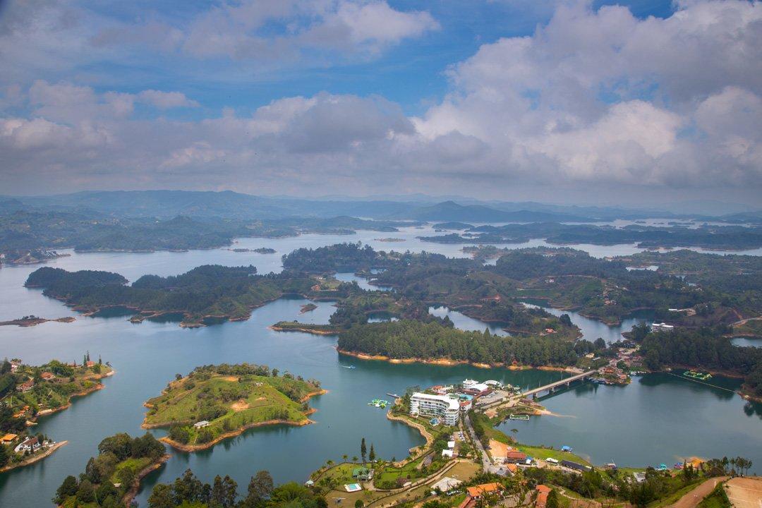 Guatape Seenlandschaft Blick El Penol Kolumbien