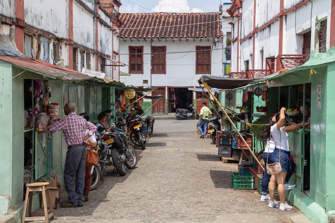Marktgasse Salamina Kolumbien