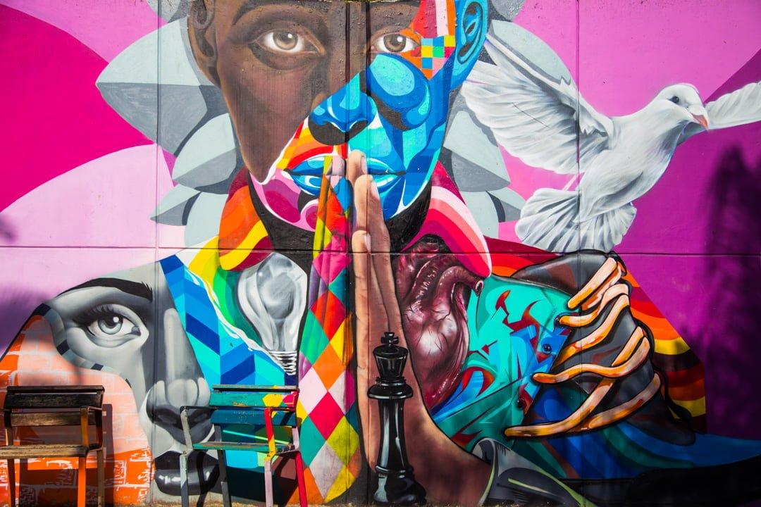 Medellin Comuna 13 Graffiti 1 Kolumbien