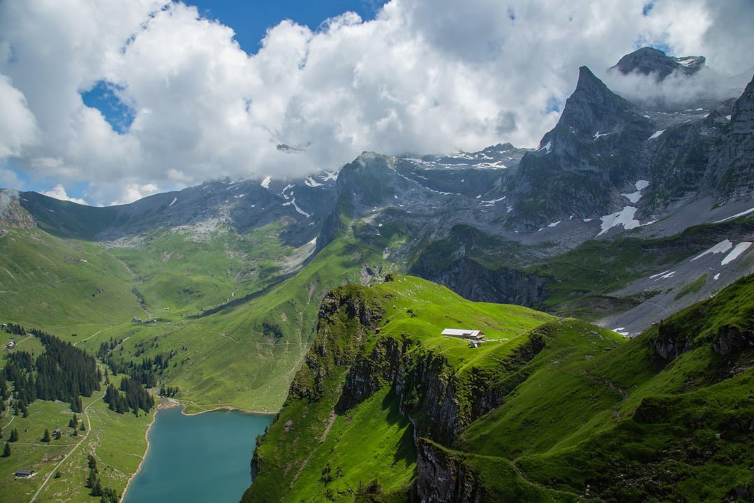 Wanderung Banalpsee Alpwirtschaft Oberfeld