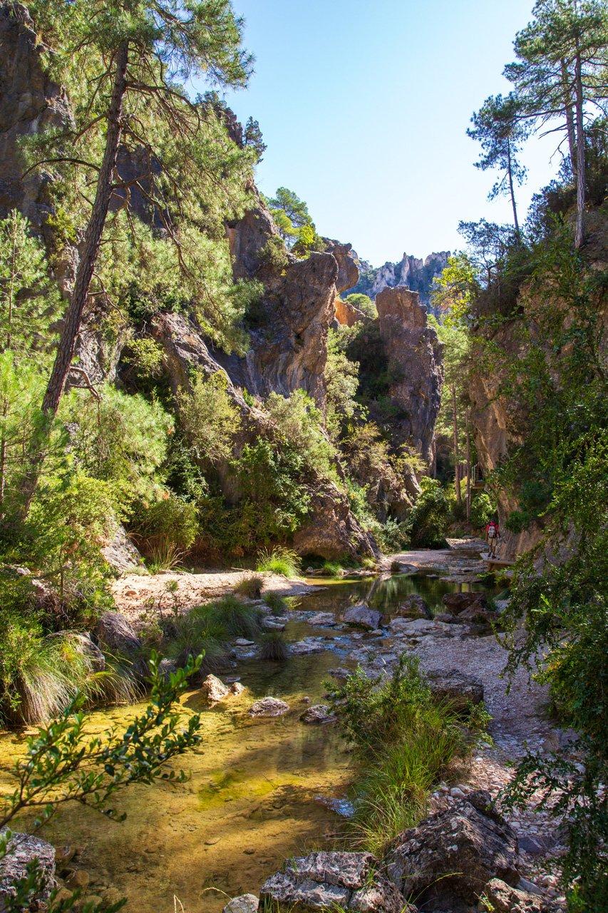 Flusswanderung El Parrisal entlang der Materrana