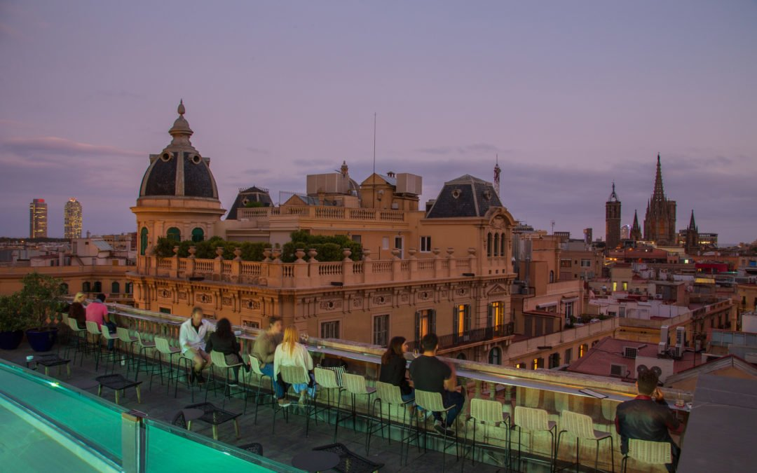 Ohla Hotel roof top bar Barcelona