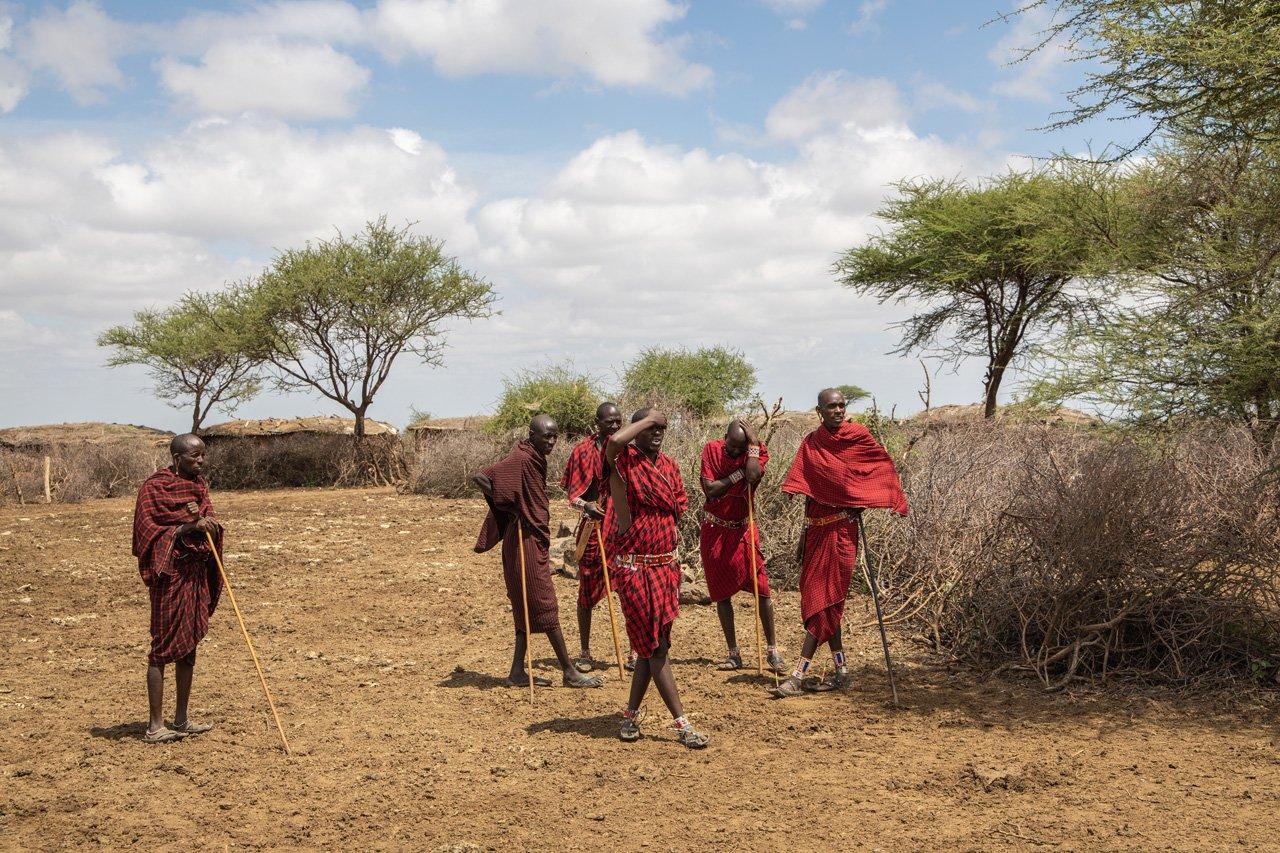 Massai Männergruppe Amboseli