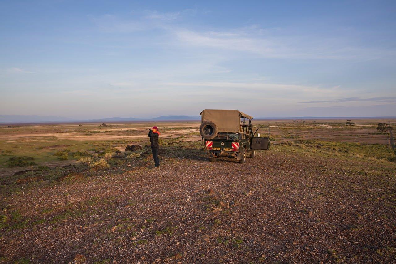 Safari Aussichtspunkt Amboseli