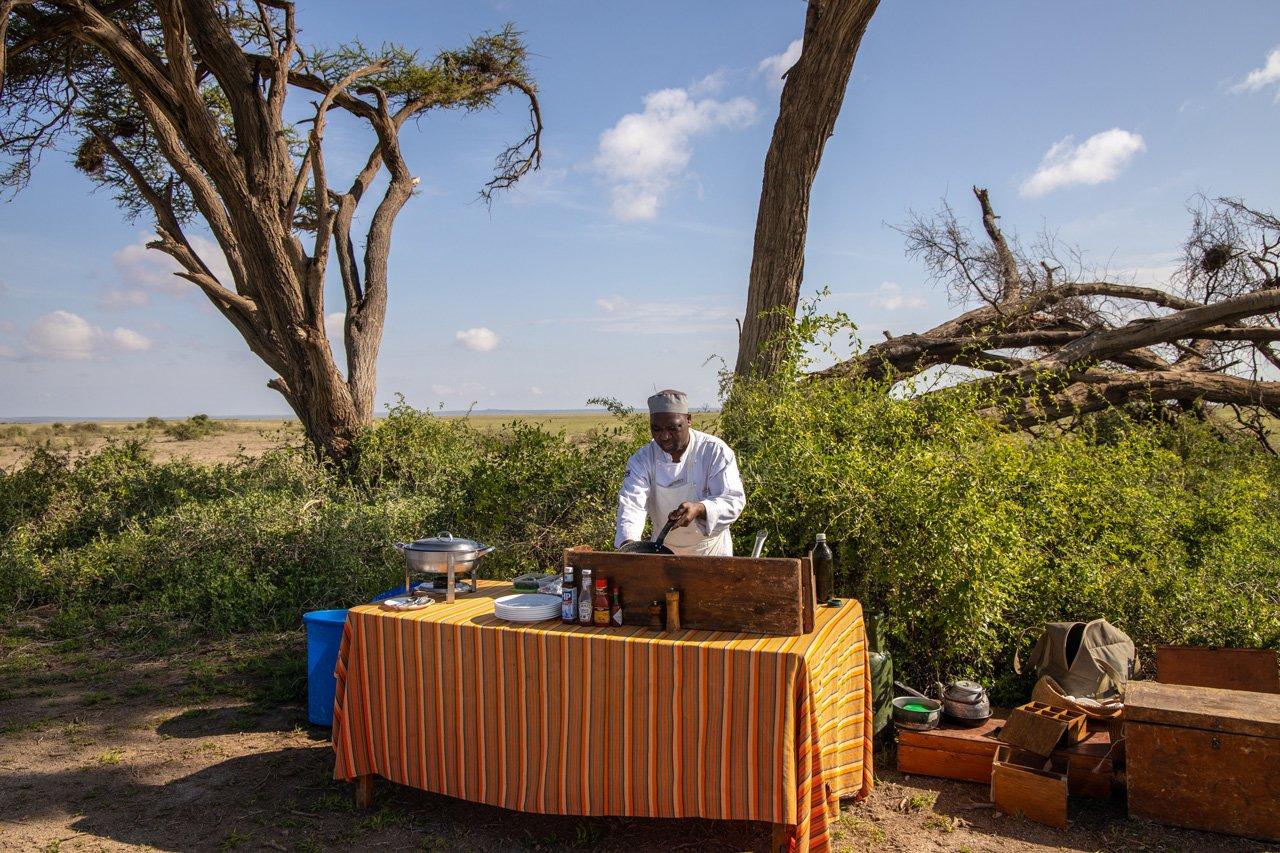 Tortili Camp Buschfrühstück Amboseli