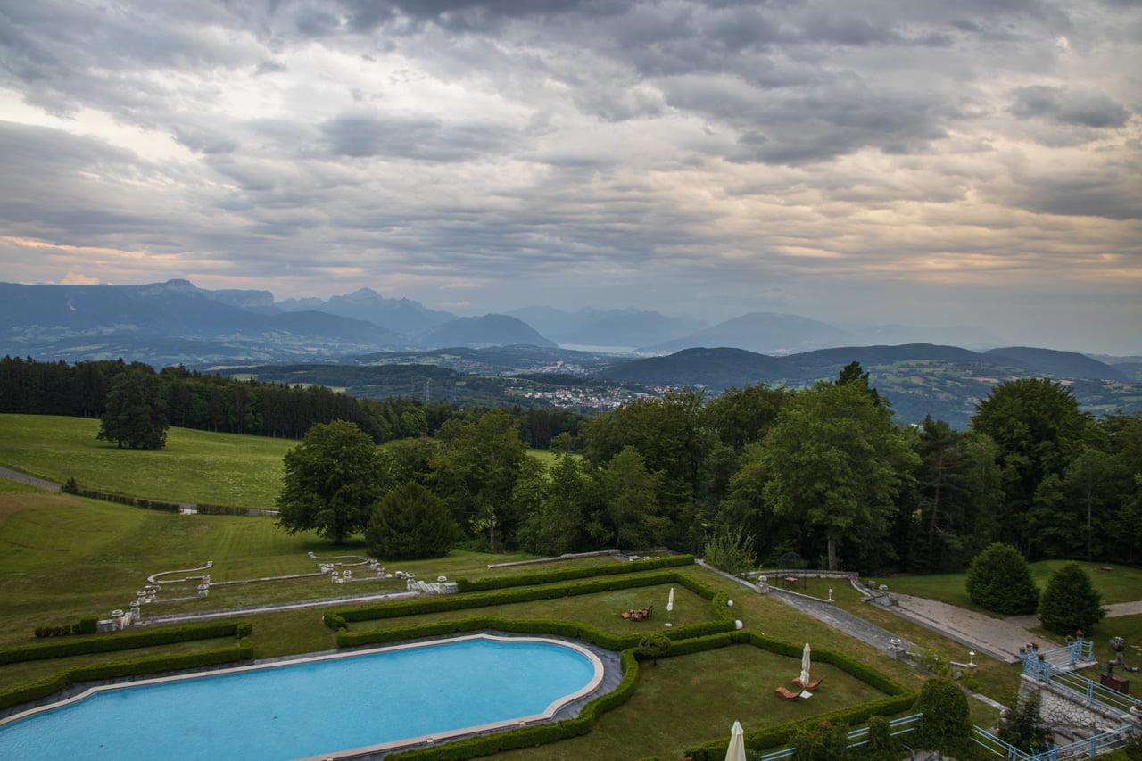 Aussicht vom Hotel Chateau Avenieres