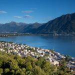 Sicht von der Villa Orselina auf den Lago Maggiore