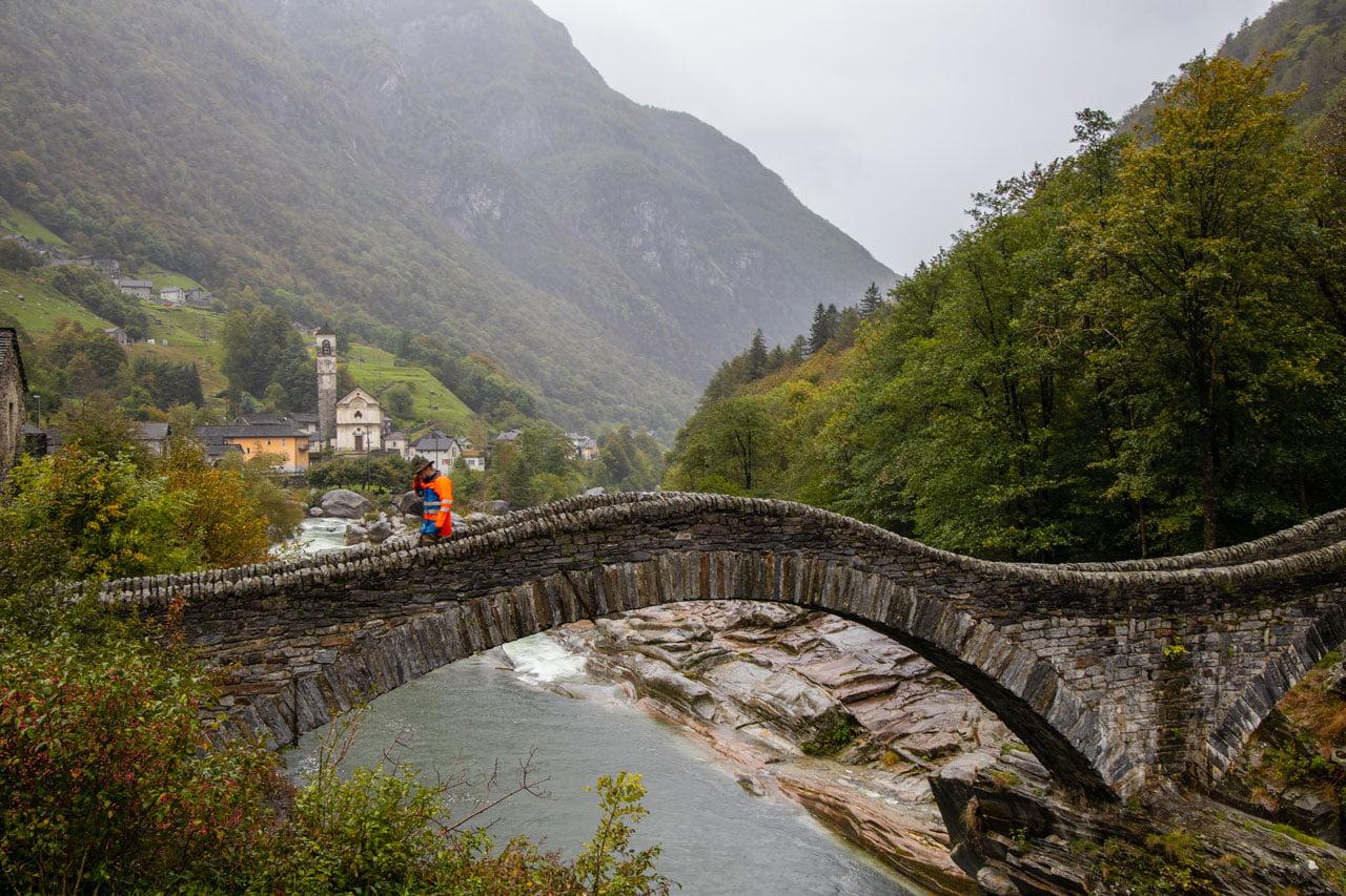Ponte dei salti Verzasca Römerbrücke